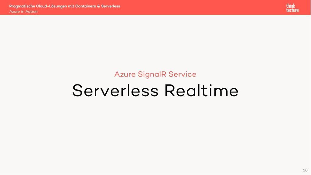 68 Azure SignalR Service Serverless Realtime Az...