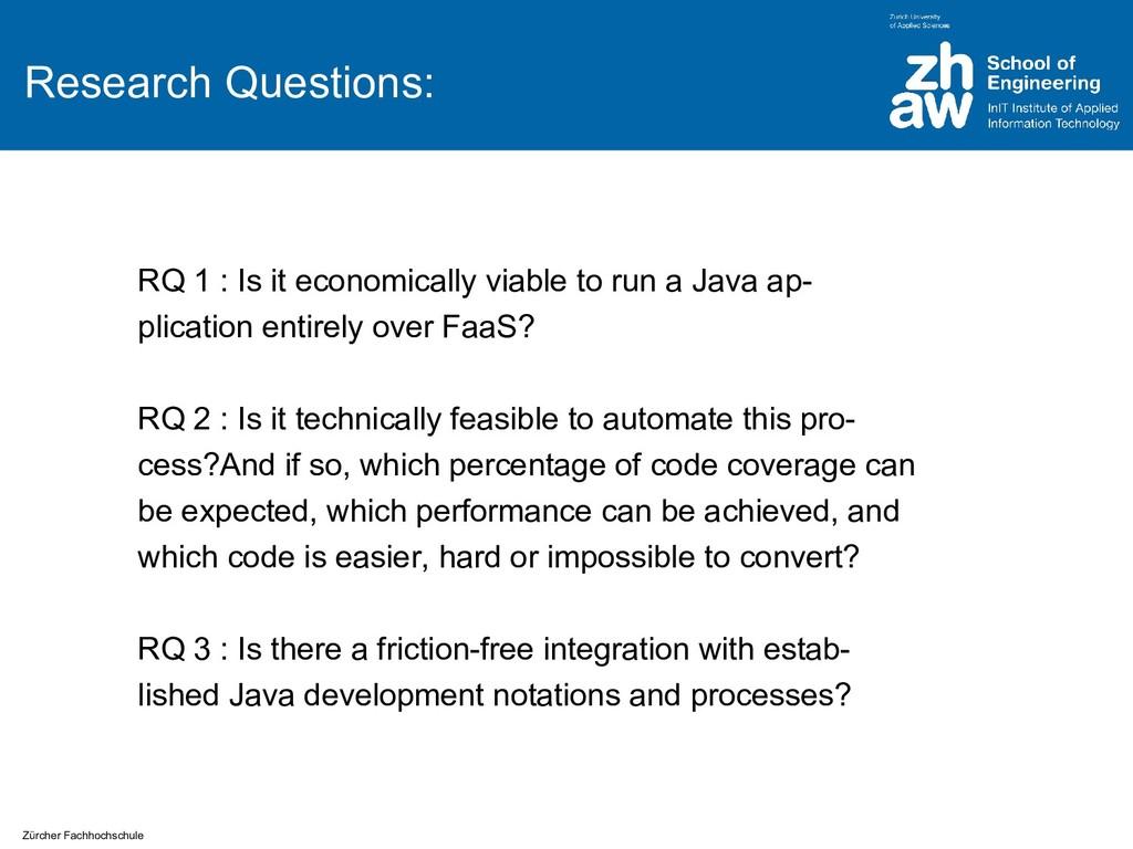 Zürcher Fachhochschule Research Questions: RQ 1...