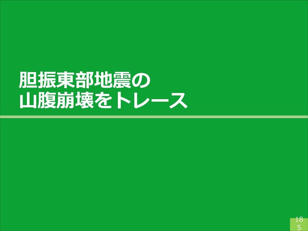 胆振東部地震の 山腹崩壊をトレース 18 5