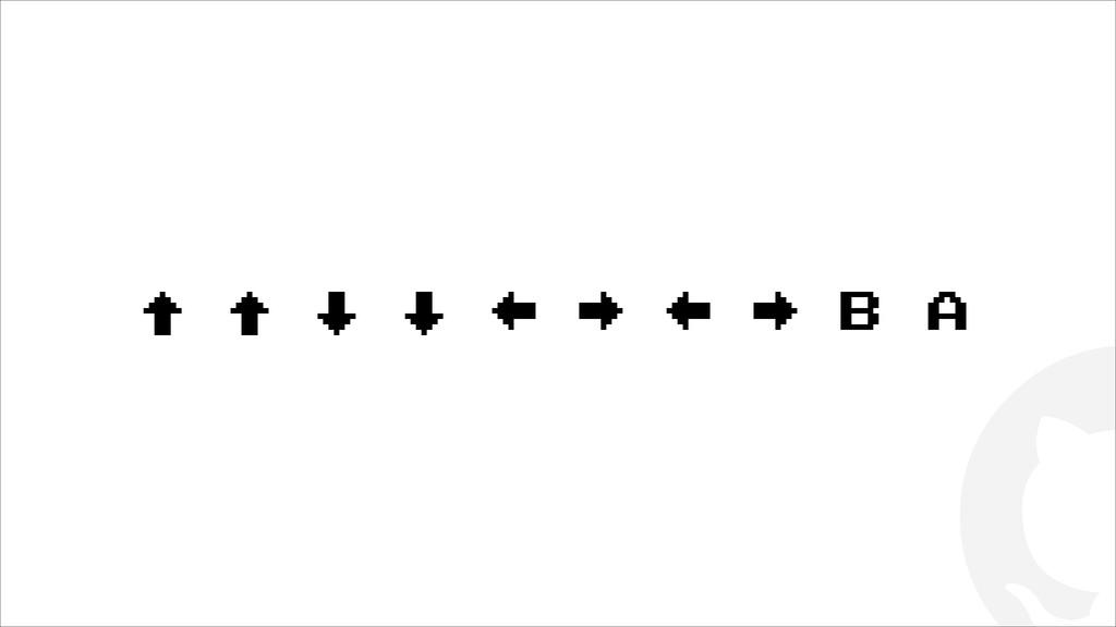 ! ↑ ↑ ↓ ↓ ← → ← → B A