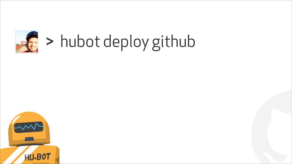 ! hubot deploy github >