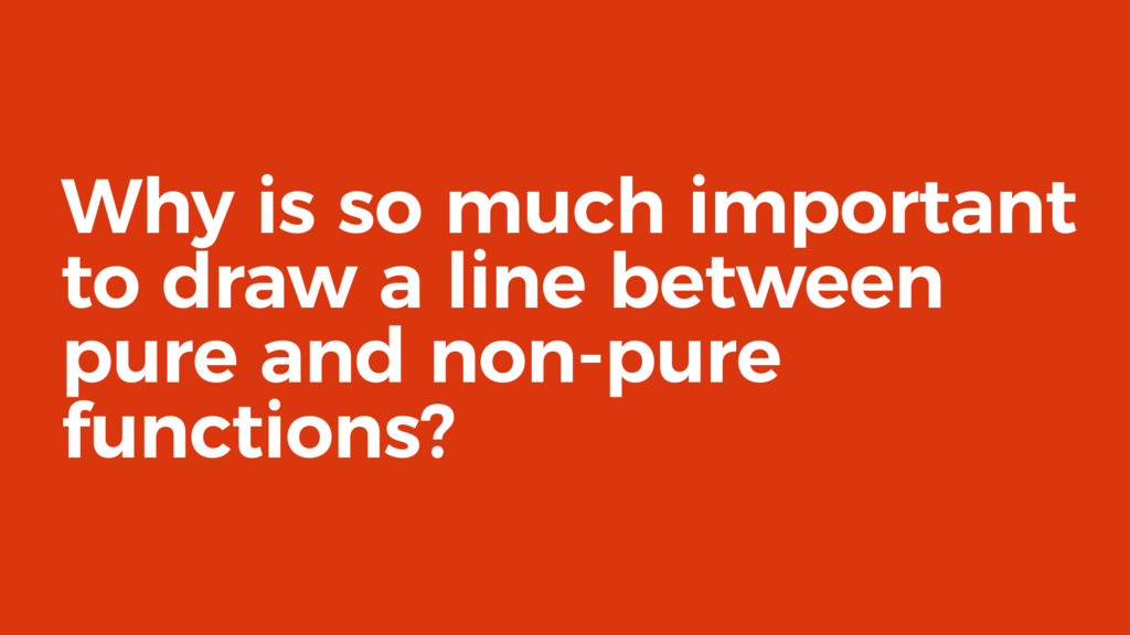 Why is so much important to draw a line between...