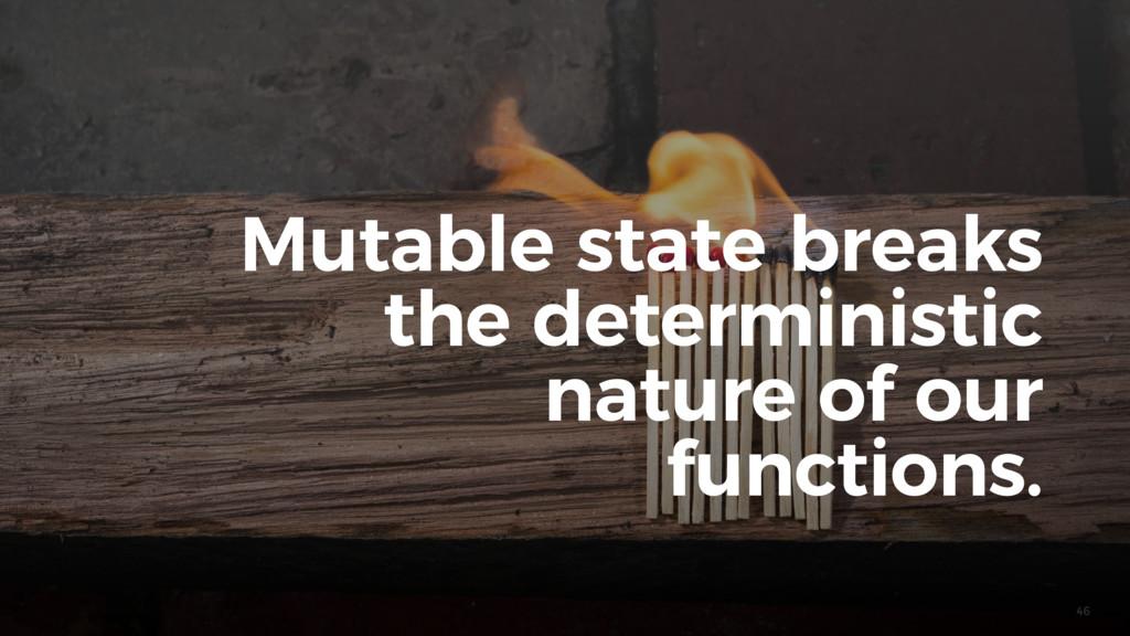 46 Mutable state breaks the deterministic natur...