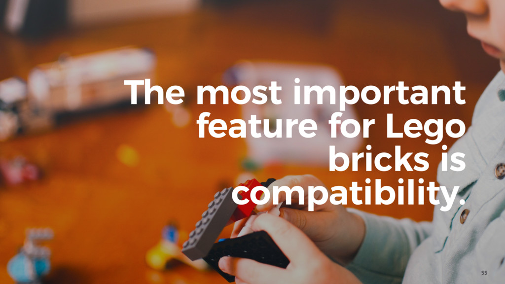 55 The most important feature for Lego bricks i...
