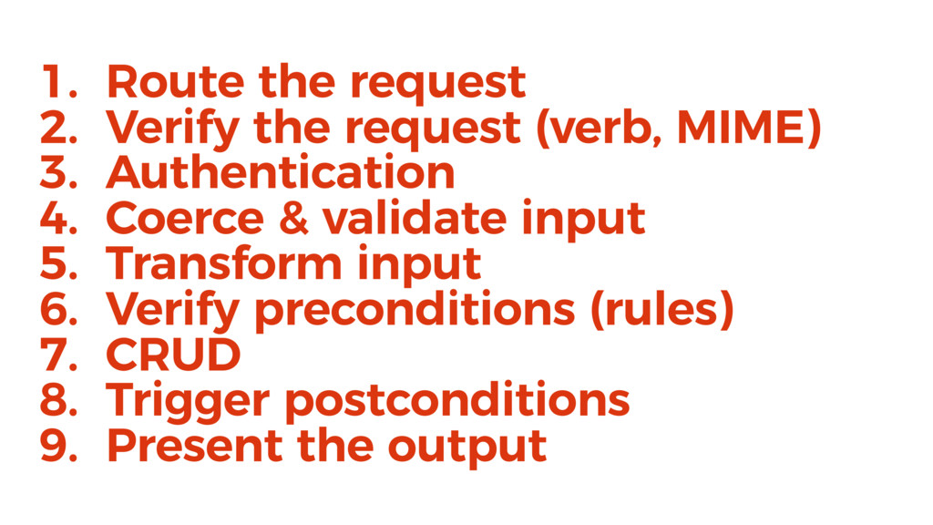 1. Route the request 2. Verify the request (ver...