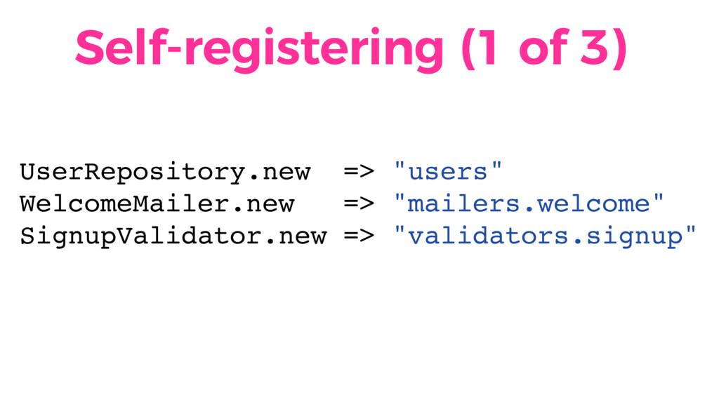 Self-registering (1 of 3) UserRepository.new =>...