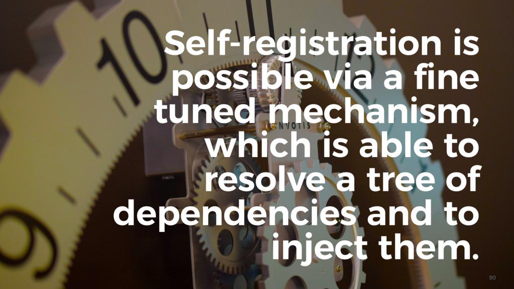 90 Self-registration is possible via a fine tun...