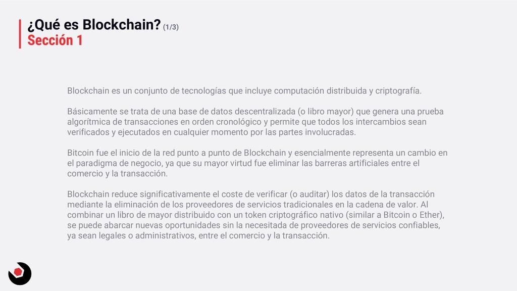 ¿Qué es Blockchain?(1/3) Sección 1 Blockchain e...