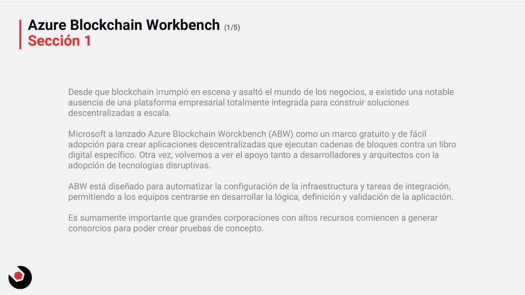 Azure Blockchain Workbench (1/5) Sección 1 Desd...