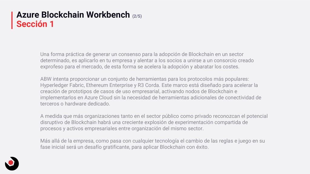 Azure Blockchain Workbench (2/5) Sección 1 Una ...