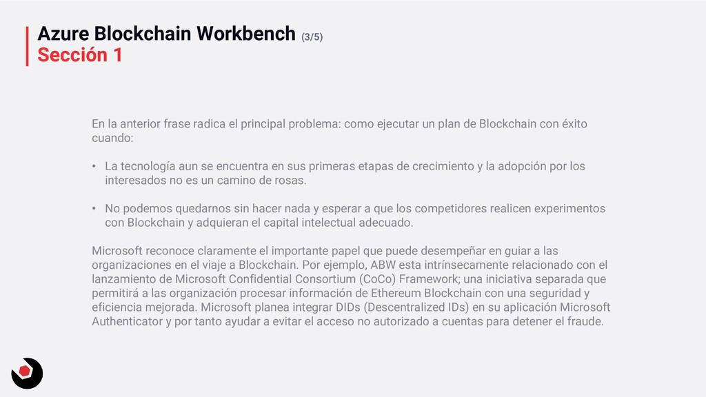 Azure Blockchain Workbench (3/5) Sección 1 En l...