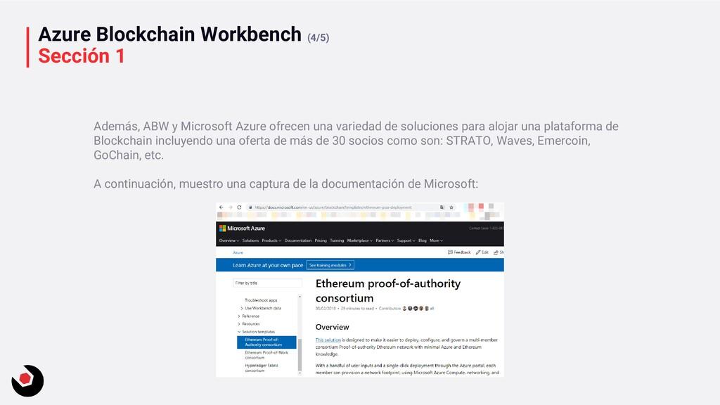 Azure Blockchain Workbench (4/5) Sección 1 Adem...