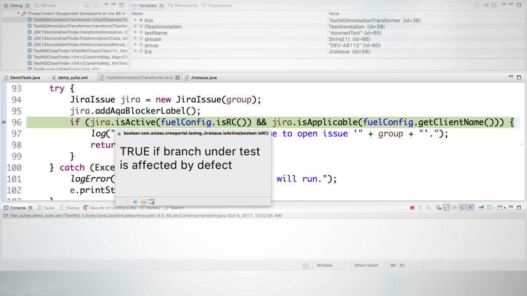 37 TRUE if branch under test is affected by def...