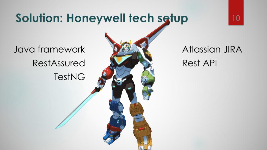 Solution: Honeywell tech setup Java framework R...