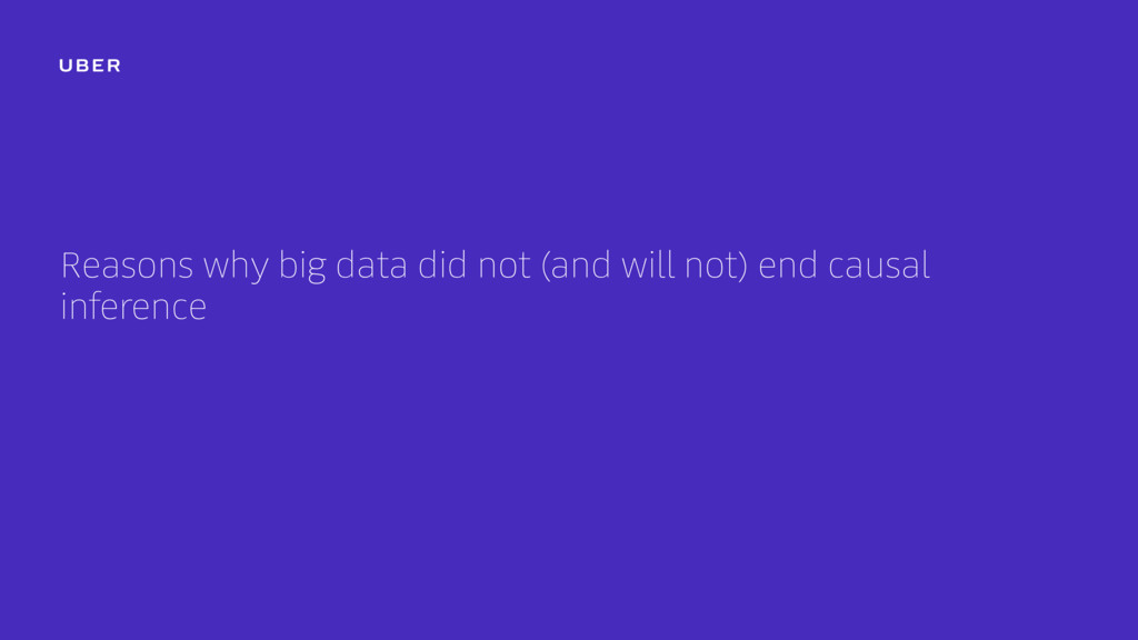Reasons why big data did not (and will not) end...