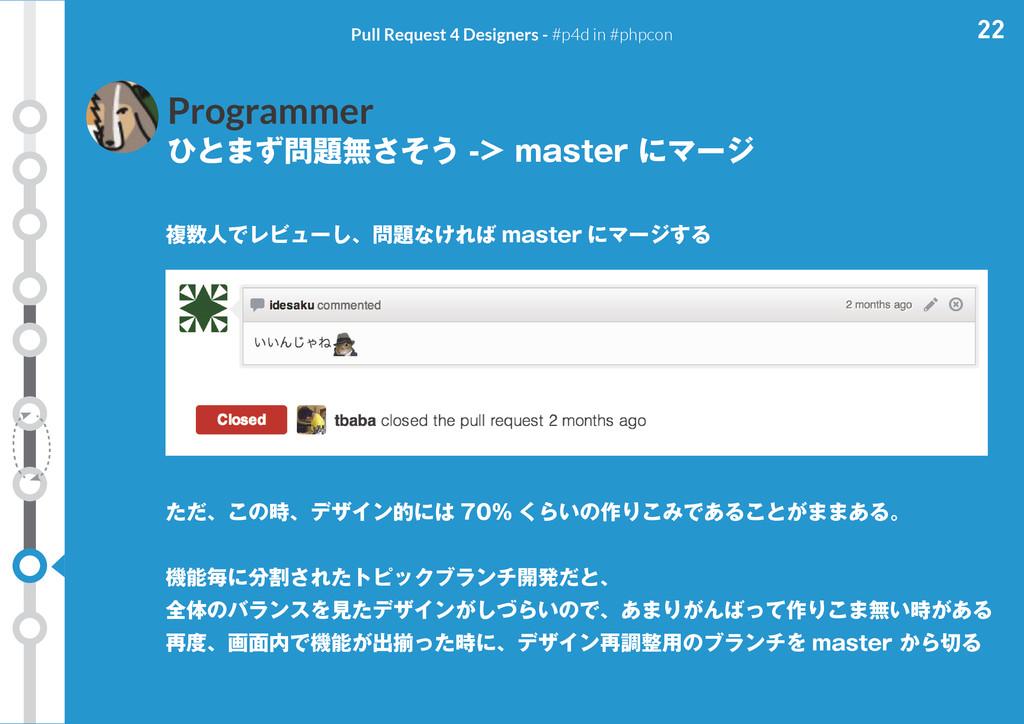 22 Pull Request 4 Designers - #p4d in #phpcon P...