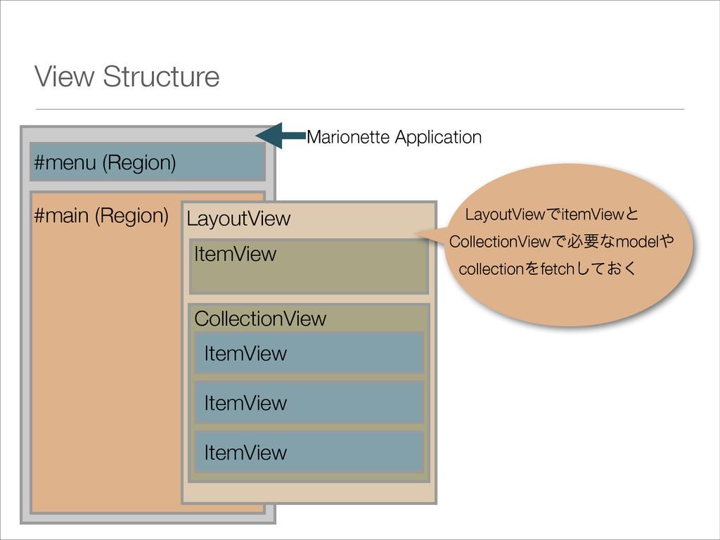 View Structure #menu (Region) #main (Region) Ma...