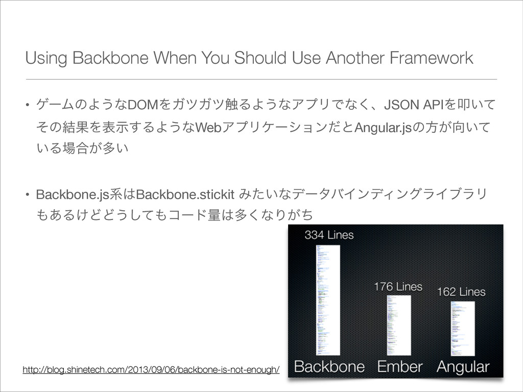 Using Backbone When You Should Use Another Fram...