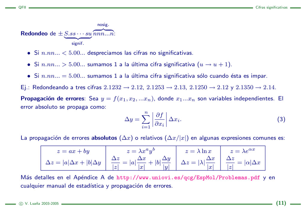 QFII Cifras significativas Redondeo de ± S.ss · ...