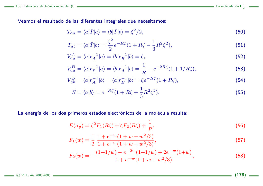 L06: Estructura electr´ onica molecular (I) La ...