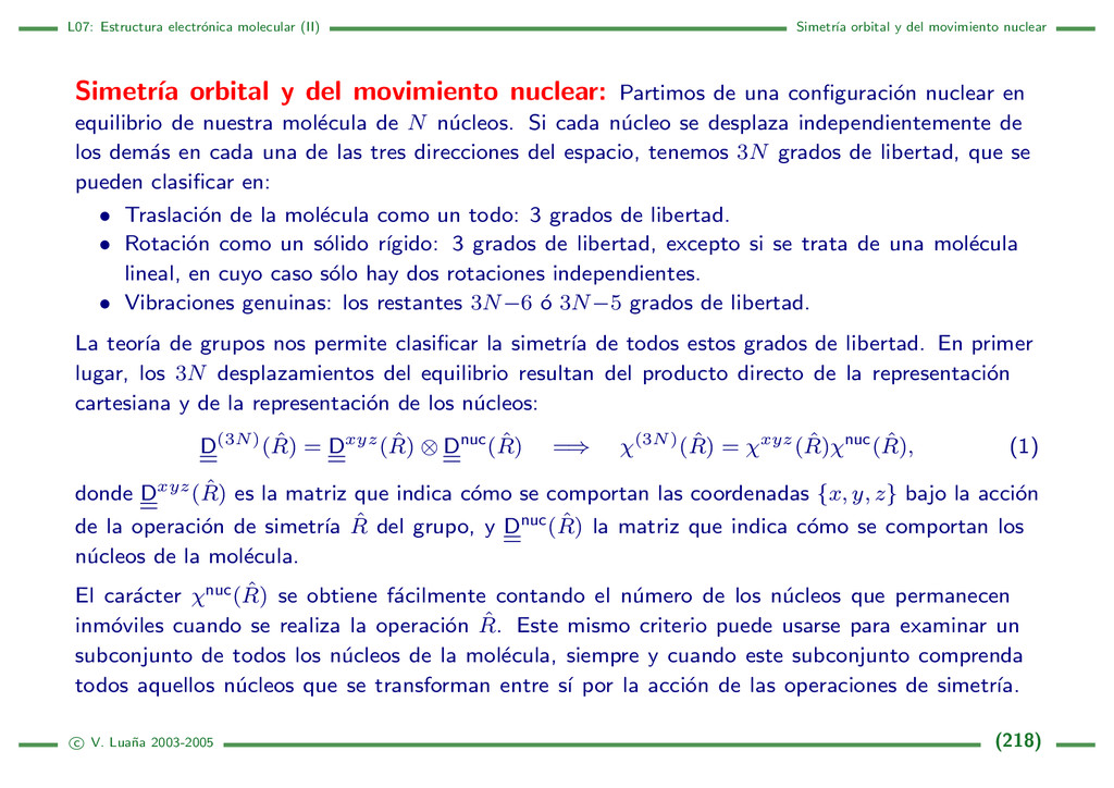 L07: Estructura electr´ onica molecular (II) Si...
