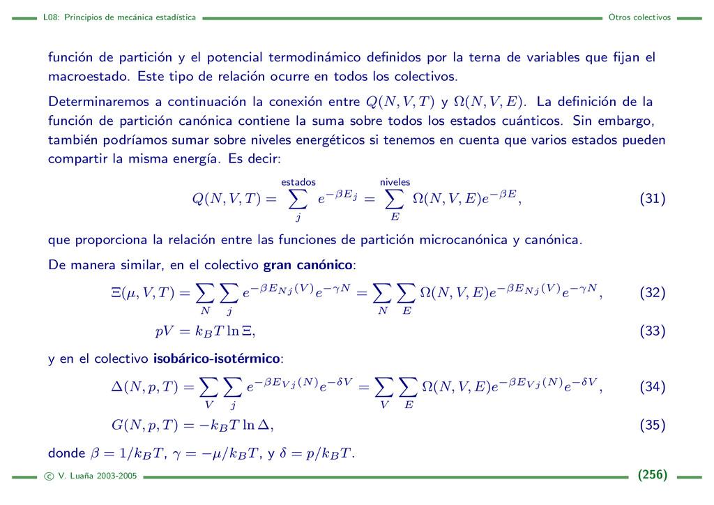 L08: Principios de mec´ anica estad´ ıstica Otr...