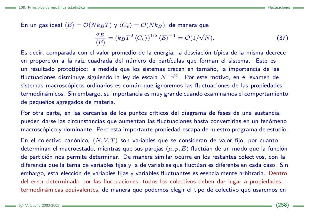 L08: Principios de mec´ anica estad´ ıstica Flu...