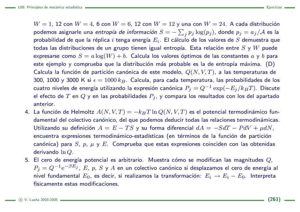 L08: Principios de mec´ anica estad´ ıstica Eje...