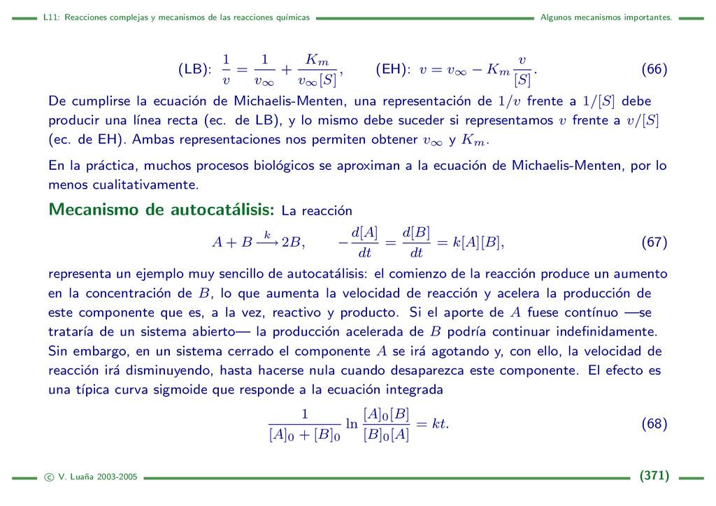 L11: Reacciones complejas y mecanismos de las r...