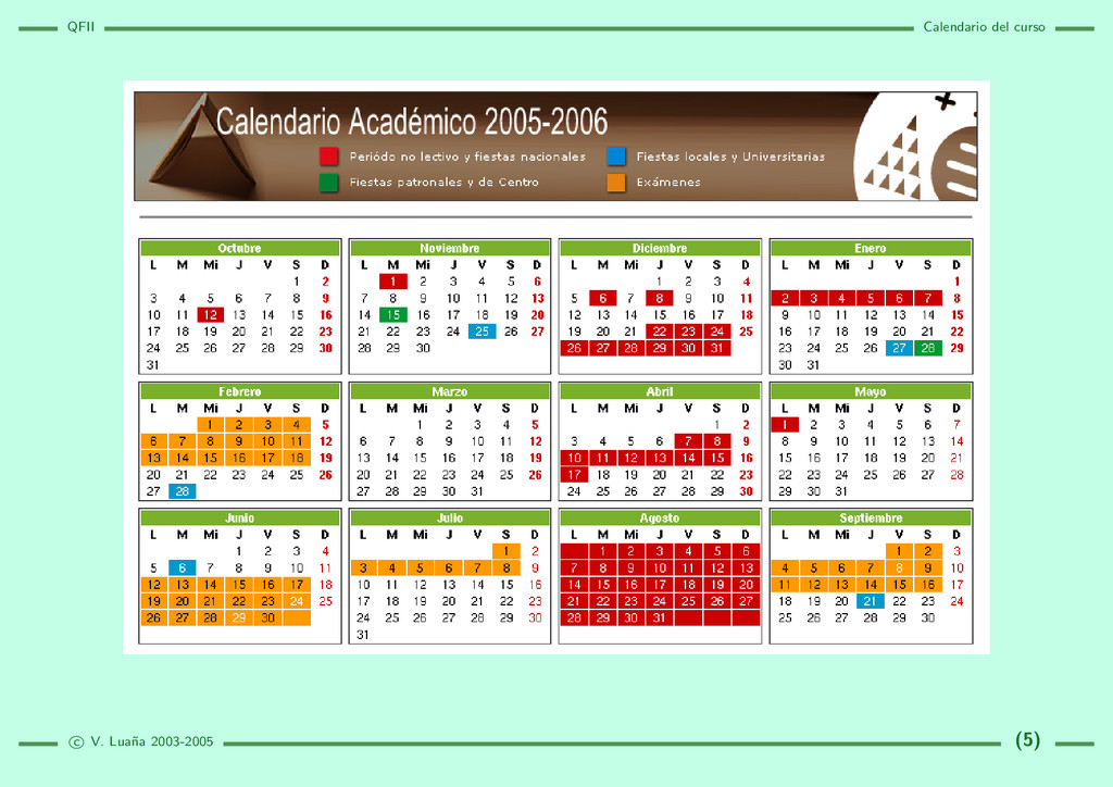 QFII Calendario del curso c V. Lua˜ na 2003-200...
