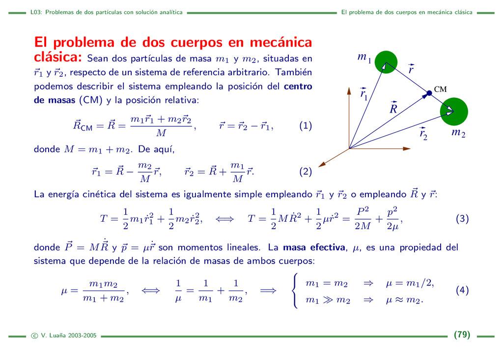 L03: Problemas de dos part´ ıculas con soluci´ ...