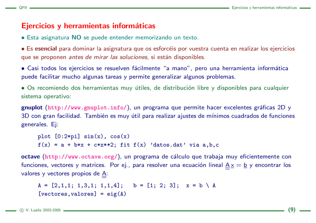 QFII Ejercicios y herramientas inform´ aticas E...