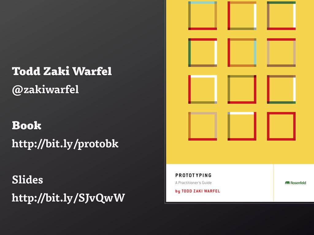 Todd Zaki Warfel @zakiwarfel Book http://bit.ly...