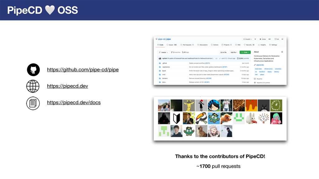 PipeCD 🤍 OSS Thanks to the contributors of Pipe...