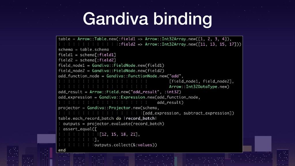 Gandiva binding