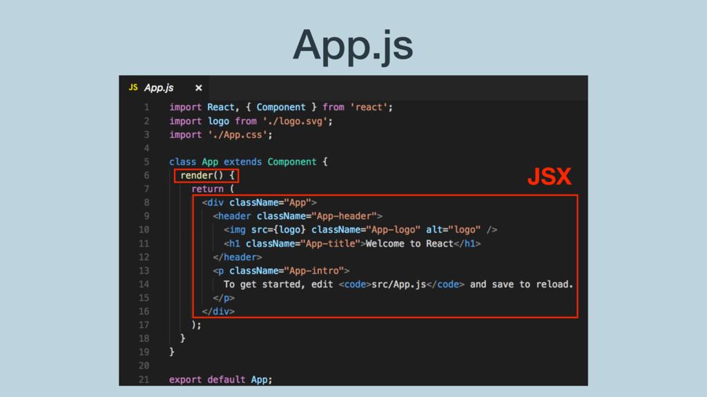 App.js JSX