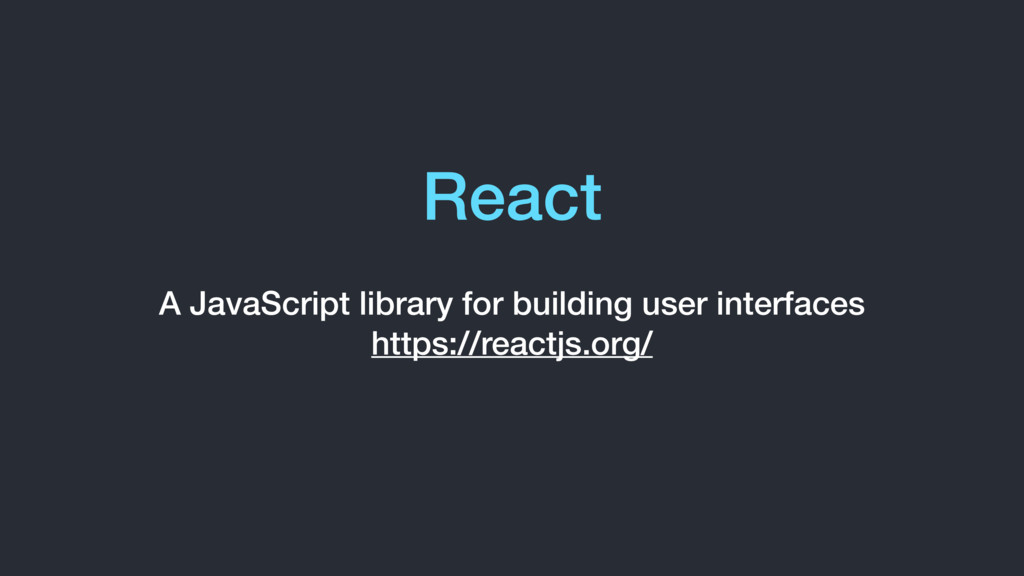 React A JavaScript library for building user in...