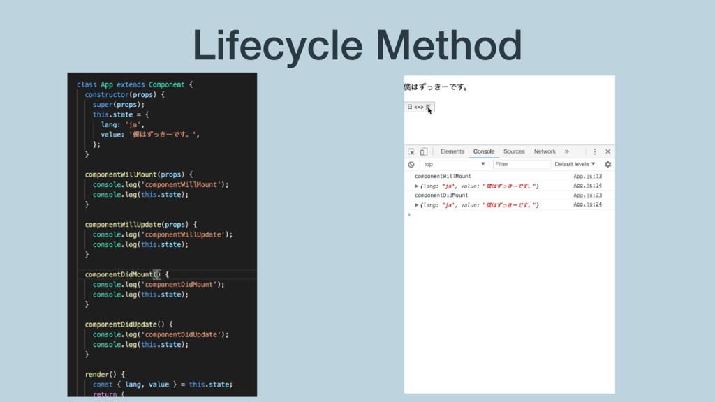 Lifecycle Method