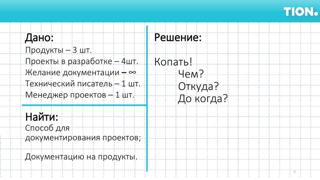 Дано: Продукты – 3 шт. Проекты в разработке – 4...