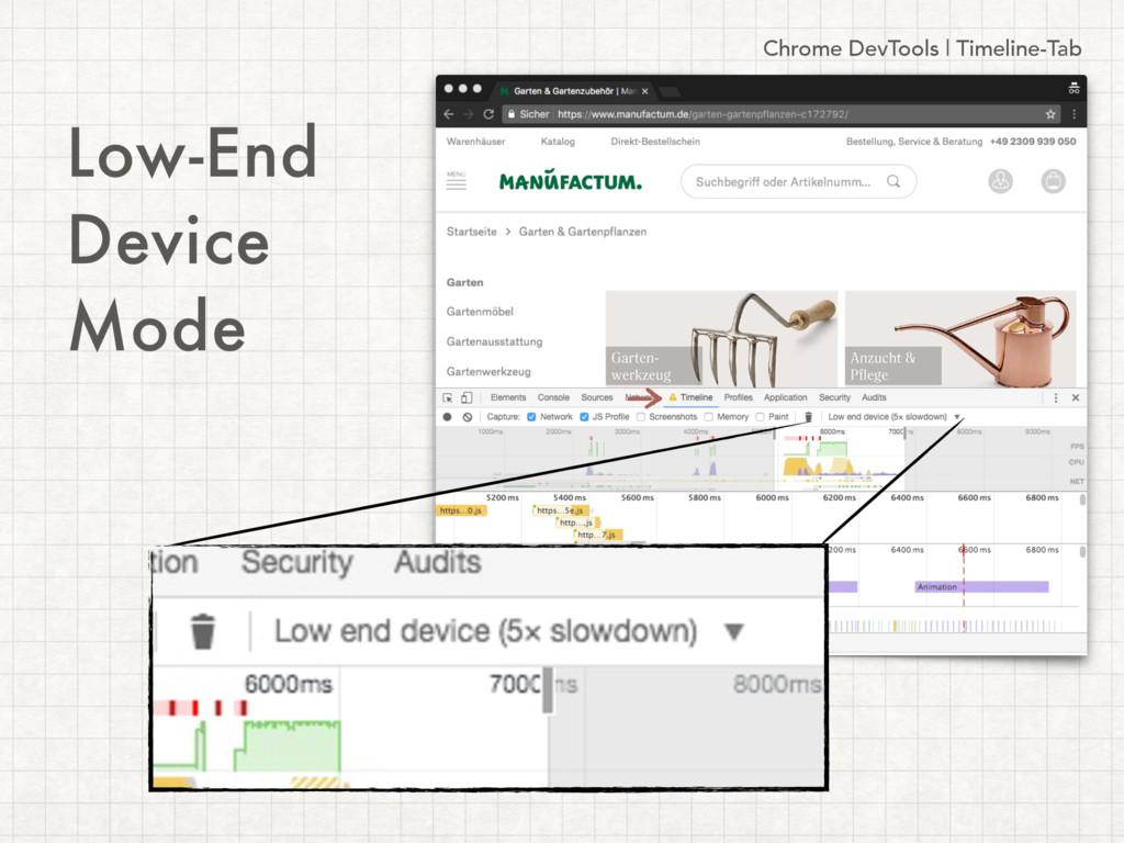 Chrome DevTools | Timeline-Tab Low-End Device M...