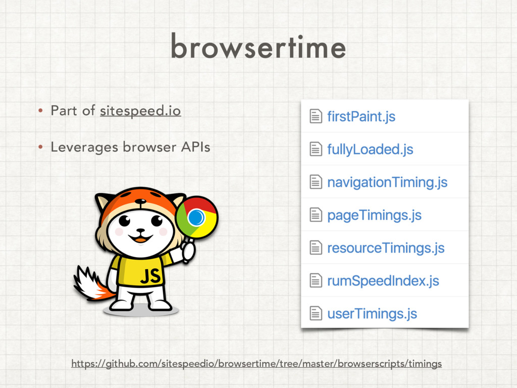 browsertime • Part of sitespeed.io • Leverages ...