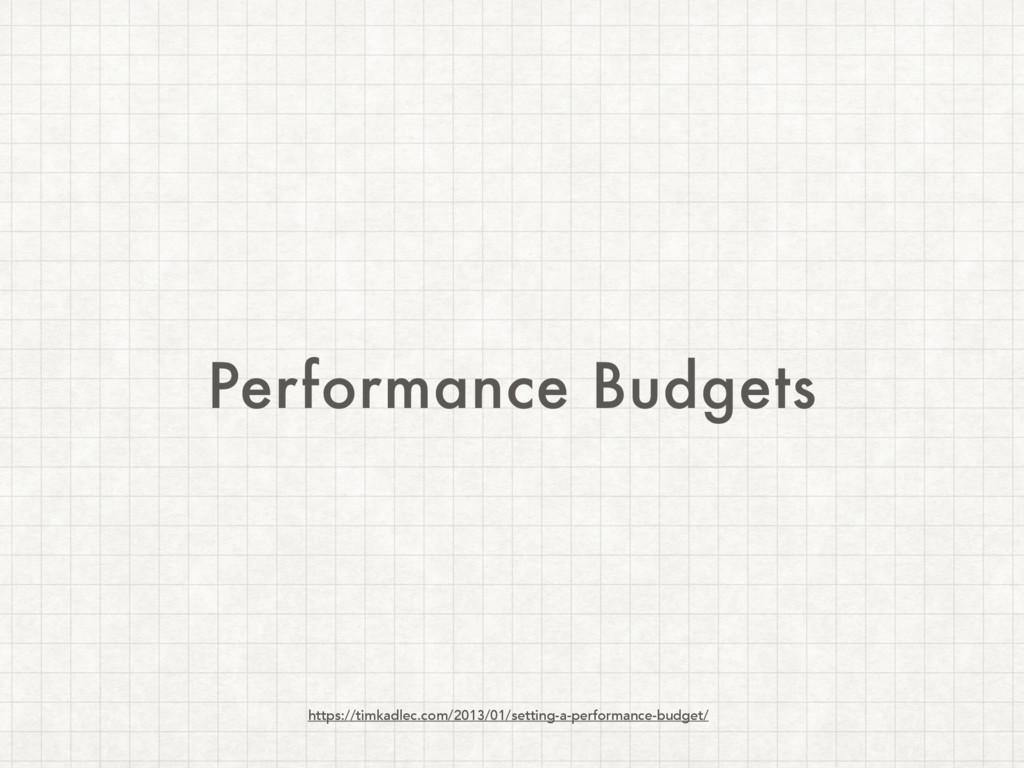 Performance Budgets https://timkadlec.com/2013/...
