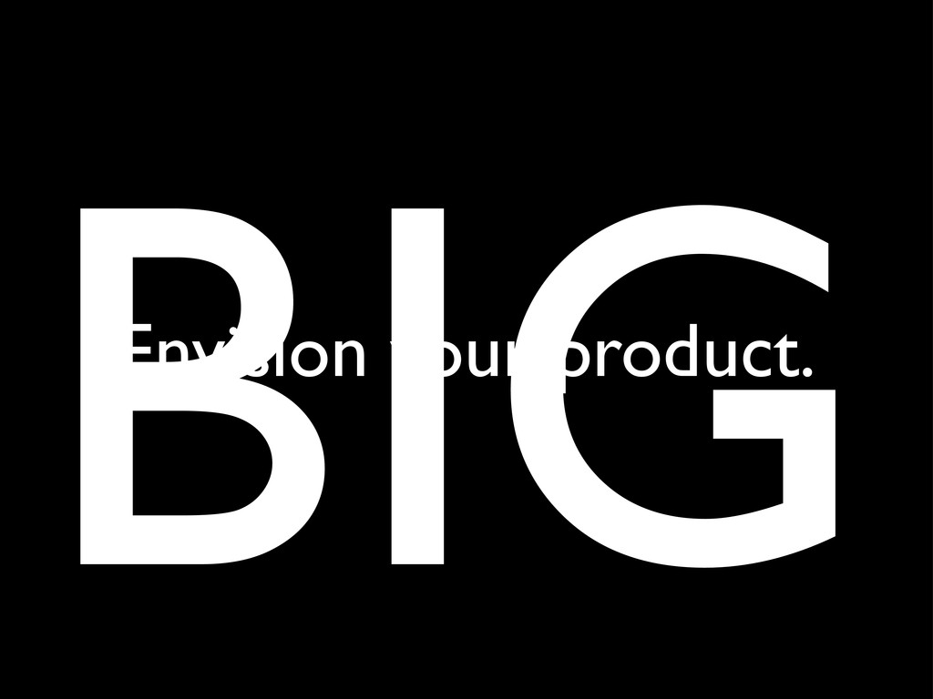 BIG Envision your product.