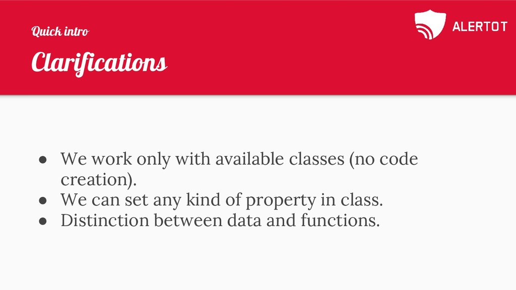 Clarifications ● We work only with available cl...