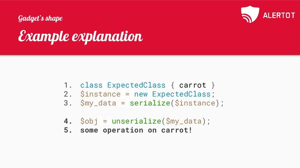 Example explanation 1. class ExpectedClass { ca...