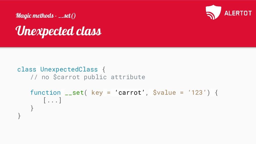 Unexpected class class UnexpectedClass { // no ...