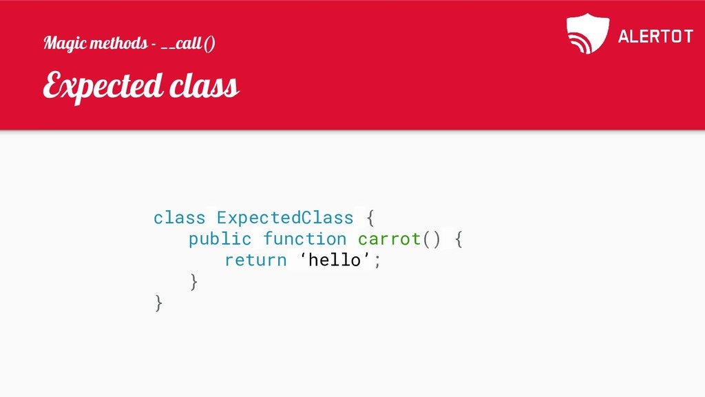 Expected class class ExpectedClass { public fun...