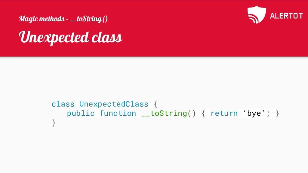 Unexpected class class UnexpectedClass { public...