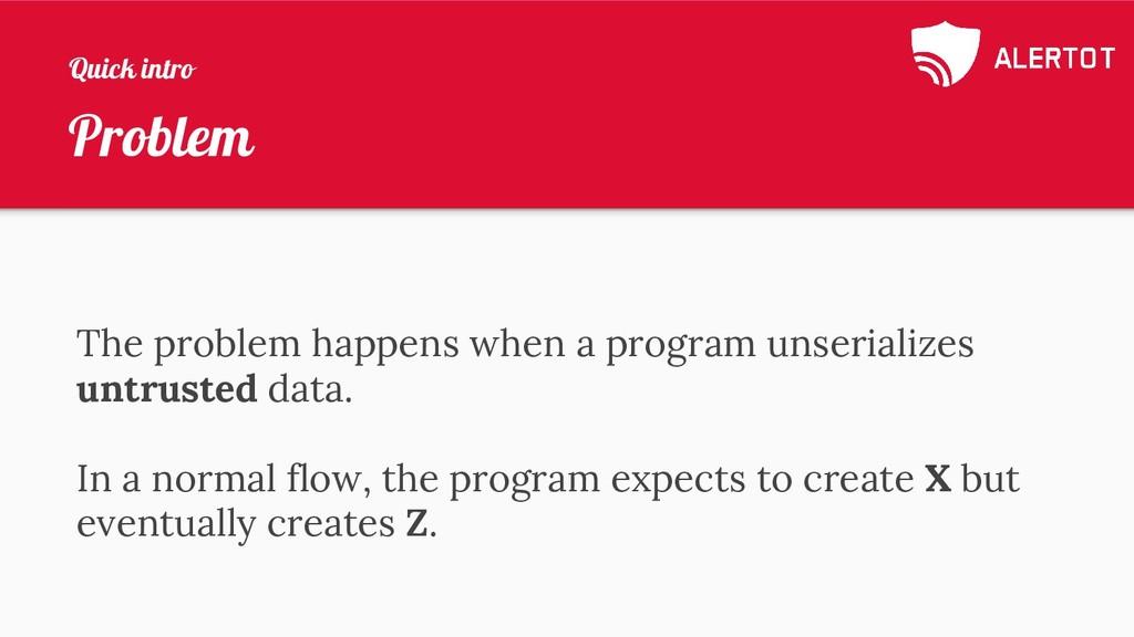 Problem The problem happens when a program unse...
