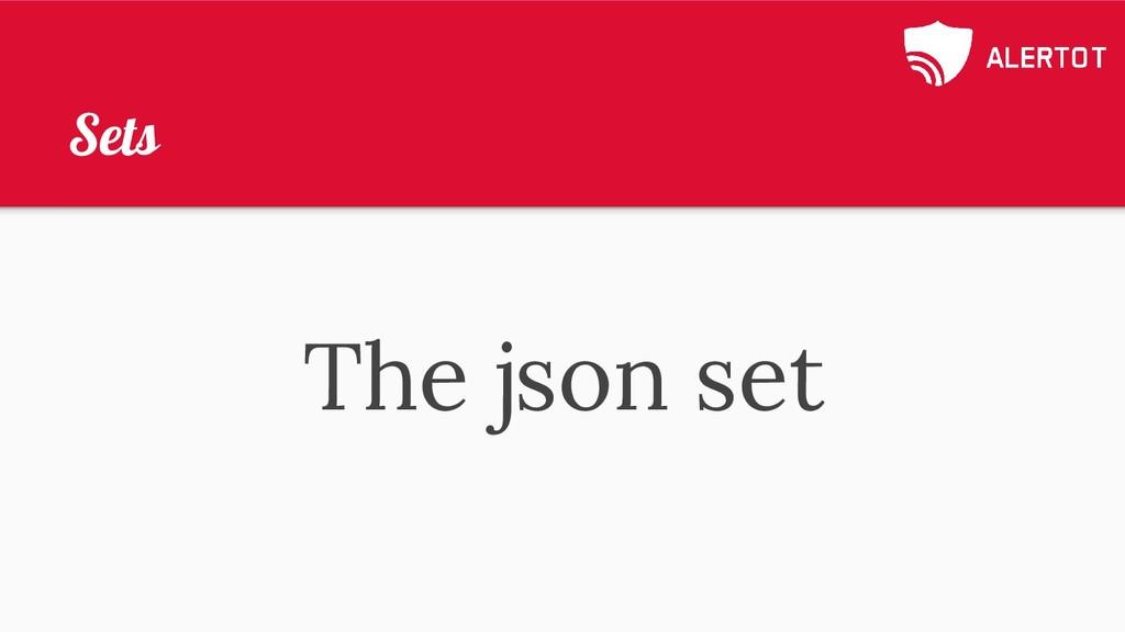 Sets The json set